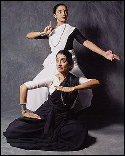 Preeti and Rajika posed for Bharatanatyam Variations